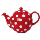 London Pottery Red & White Spot GlobeTeapot - 6 Cup