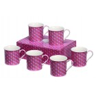 Heath McCabe Countess Pink Multi-Dot Mug Set