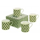 Heath McCabe Countess Black Spot on Cream Mug Set