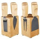 Taylor's Eye Witness Magnetic Cheese Knife Block Set