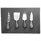 Taylors Eye Witness 4 Piece Slate Cheese Board Set