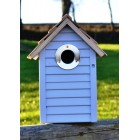 Beach Hut Nest Box Bird House - Blue
